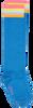 Blauwe LE BIG Sokken NISA KNEE HIGH  - small