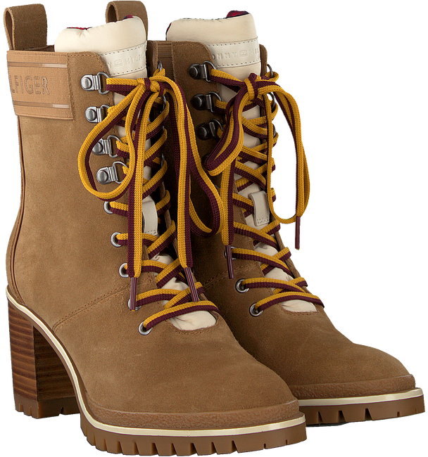 Camel TOMMY HILFIGER Veterboots SPORTY OUTDOOR MID HEEL LACE UP  - large