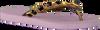 Paarse UZURII Slippers BLACK FLOWER - small
