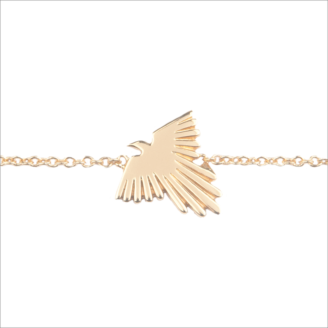 Gouden ALLTHELUCKINTHEWORLD Armband SOUVENIR BRACELET EAGLE - large