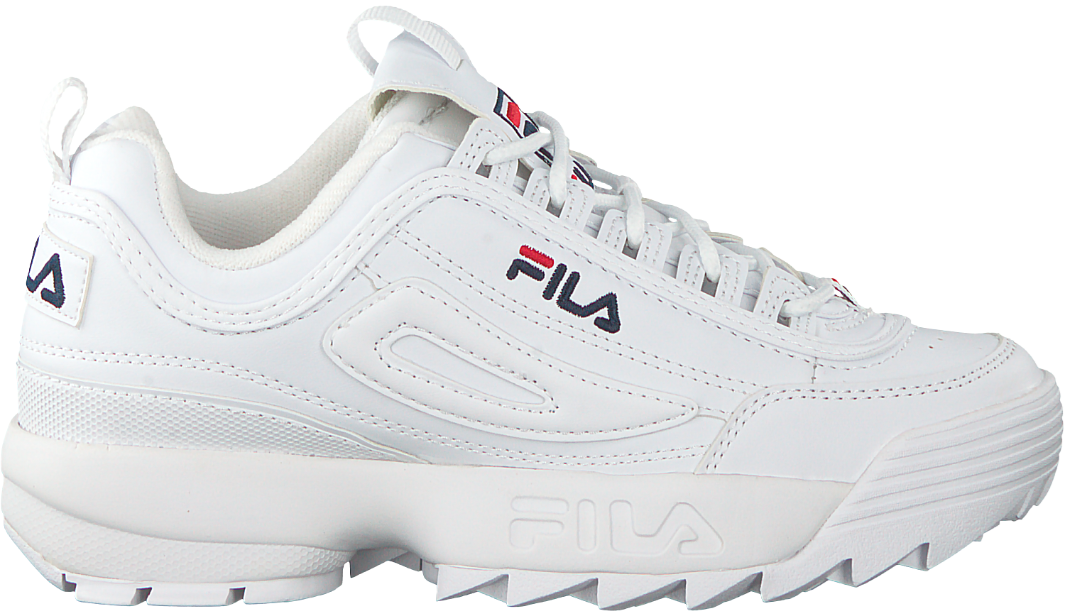 9bb8ebe3aff Witte FILA Sneakers DISRUPTOR S LOW WMN - Omoda.nl