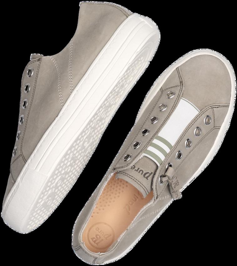 Grijze PAUL GREEN Lage sneakers 5076 - larger