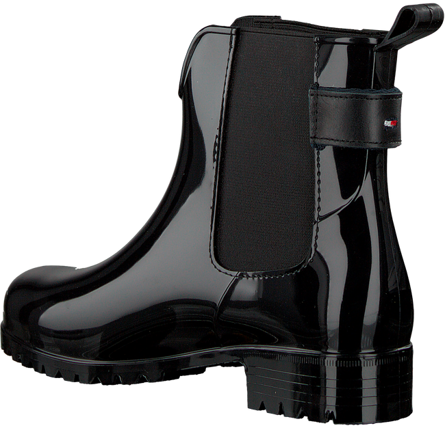 Zwarte TOMMY HILFIGER Regenlaarzen CORPORATE BELT RAIN BOOT - large