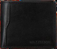 Zwarte MAZZELTOV Portemonnee TIBOR01  - medium