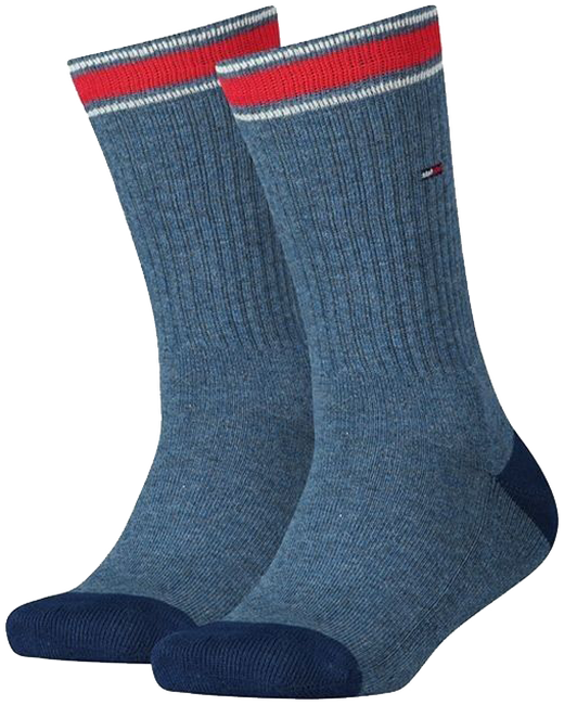 Blauwe TOMMY HILFIGER Sokken TH KIDS ICONIC SPORTS SOCK 2P - large