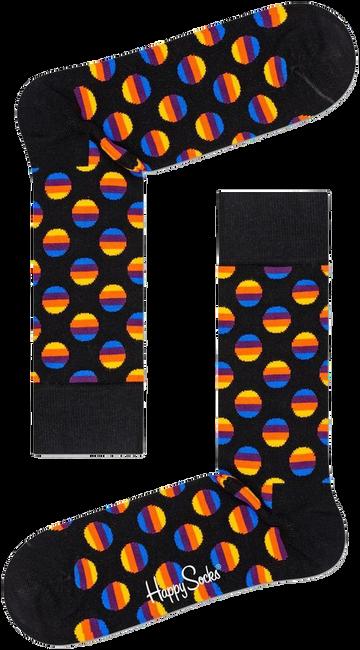 Zwarte HAPPY SOCKS Sokken SUNRISE DOT SOCK  - large
