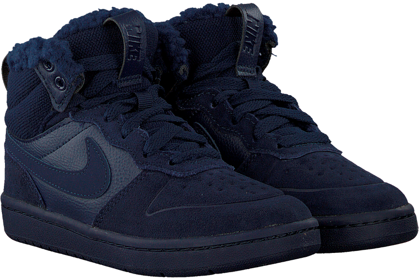 Blauwe NIKE Hoge sneaker COURT BOROUGH MID KIDS  - larger