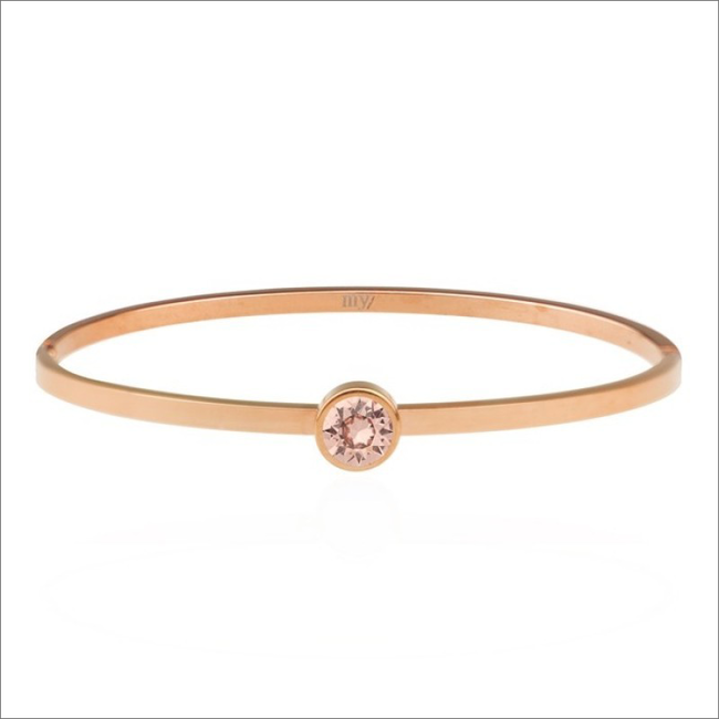 Gouden MY JEWELLERY Armband LITTLE STONE BANGLE - large