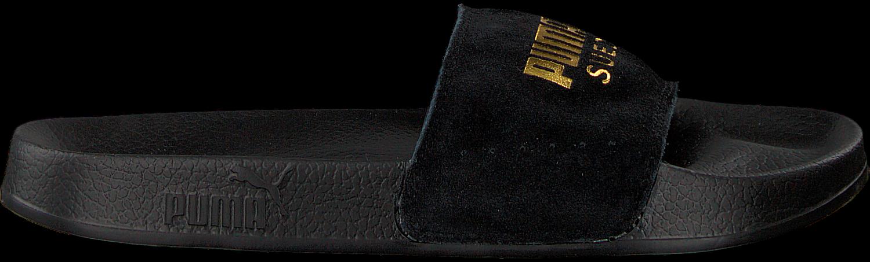 Zwarte PUMA Slippers LEADCAT SUEDE MEN   Omoda
