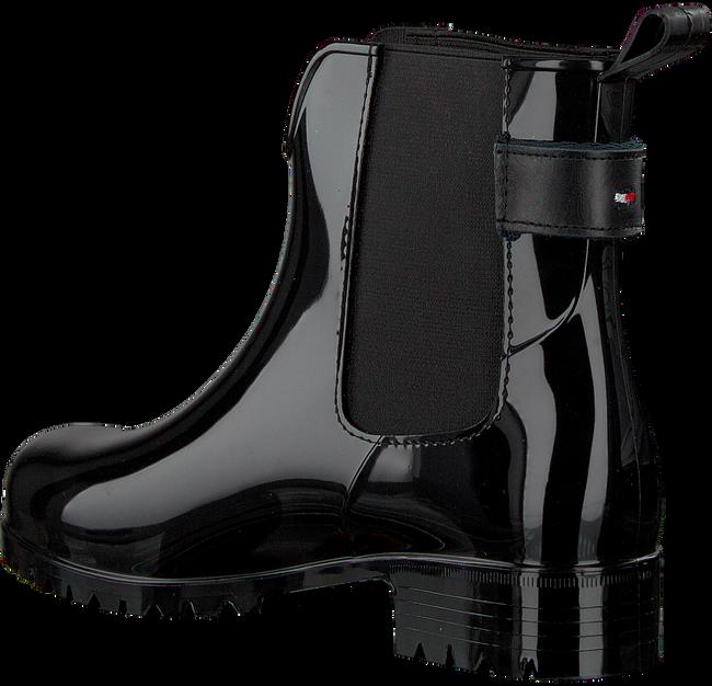 Zwarte TOMMY HILFIGER Regenlaarzen CORPORATE BELT RAIN BOOT - large