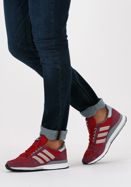 Rode ADIDAS Lage sneakers ZX 500  - large