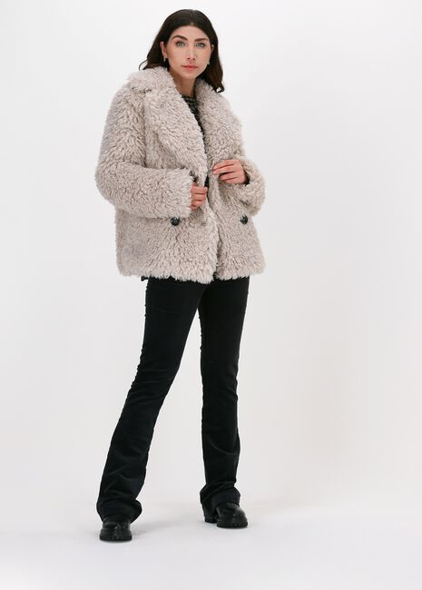 Taupe BEAUMONT Faux fur jas CURLI LIGHT WEIGHT SHORT COAT - large