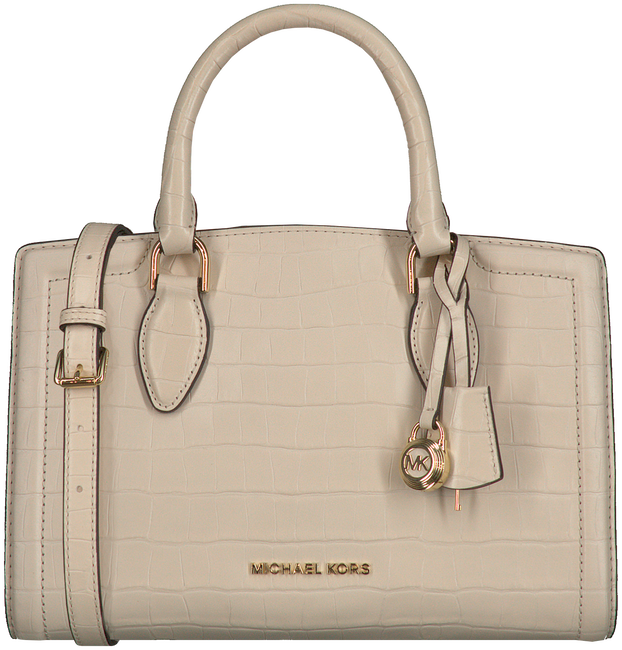 Beige MICHAEL KORS Handtas MD SATCHEL EMBOSSED - large