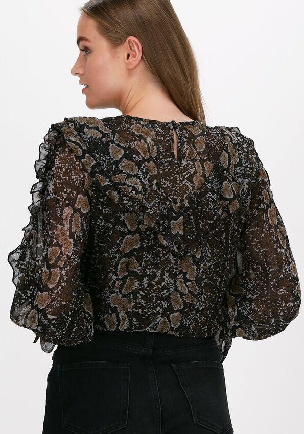Zwarte OBJECT Blouse JANNA L/S TOP  - larger