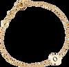 Gouden ALLTHELUCKINTHEWORLD Armband CHARACTER BRACELET LETTER GOLD - small