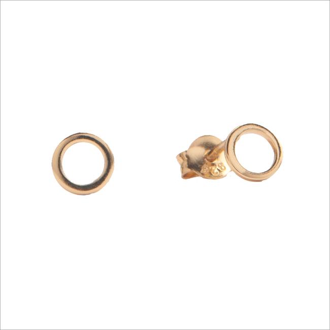 Gouden ATLITW STUDIO Oorbellen PARADE EARRINGS OPEN CIRCLE - large