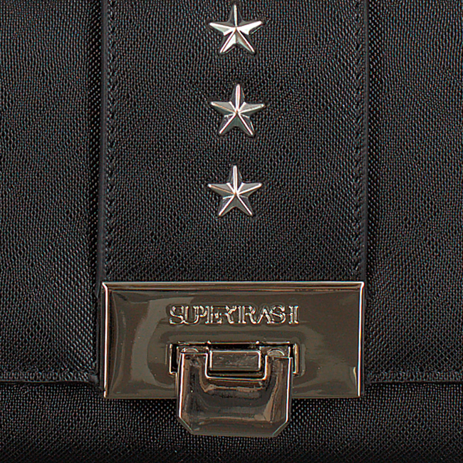 Zwarte SUPERTRASH Portemonnee STAR WALLET - large