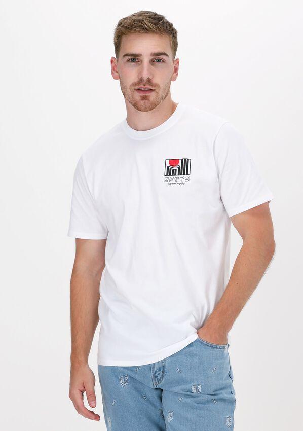 Witte EDWIN T-shirt SUN BUILDINGS TS  - larger