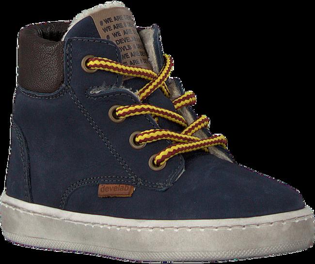 Blauwe DEVELAB Hoge sneaker 41855  - large