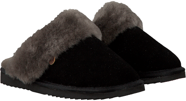 Zwarte WARMBAT Pantoffels FLURRY WOMEN SUEDE - large