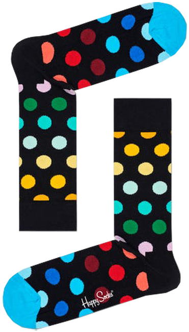 Zwarte HAPPY SOCKS Sokken BIG DOT  - large