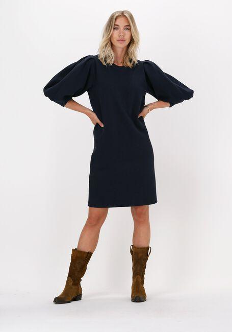 Blauwe SUMMUM Midi jurk DRESS WAFFLE JERSEY  - large
