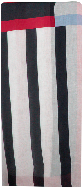 Rode TOMMY HILFIGER Sjaal STRIPE MIX SCARF  - large
