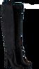 Zwarte NIKKIE Overknee laarzen VELVET OVERKNEE BOOTS  - small