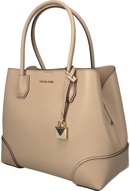 Beige MICHAEL KORS Handtas MD CENTER ZIP TOTE - large