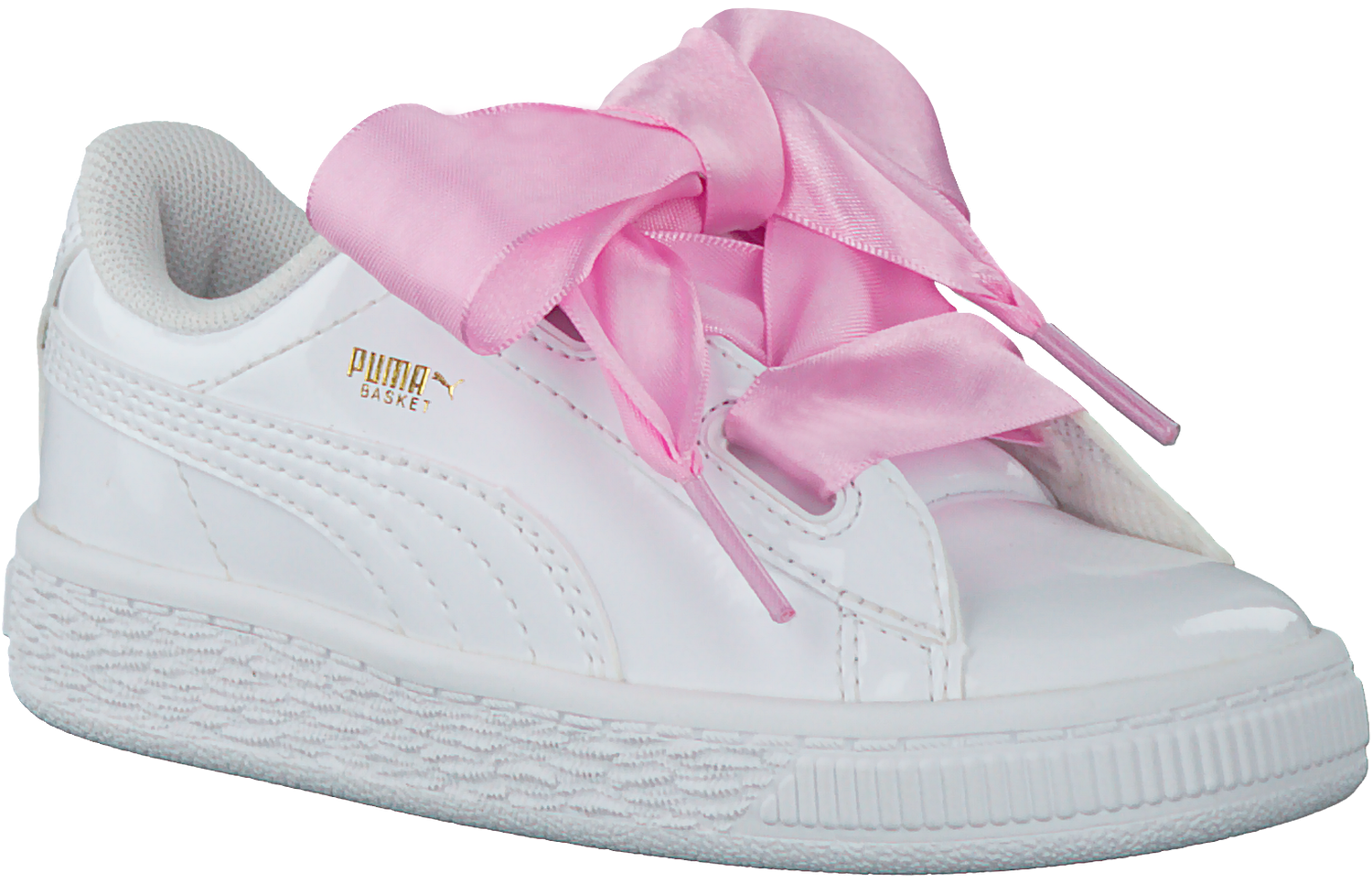 79ae36c1f82 Witte PUMA Sneakers BASKET HEART PATENT KIDS - large. Next