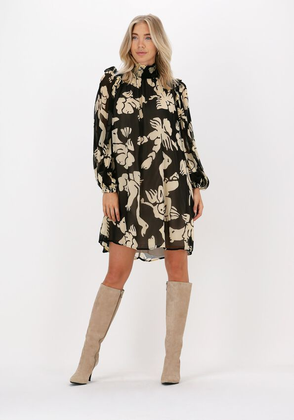 Zwarte OTTOD'AME Midi jurk ABITO  - larger
