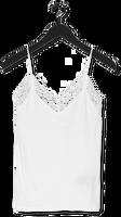 Witte SELECTED FEMME Top SLFMANDY RIB LACE SINGLET NOOS