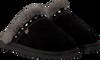 Zwarte WARMBAT Pantoffels FLURRY WOMEN STUDS - small