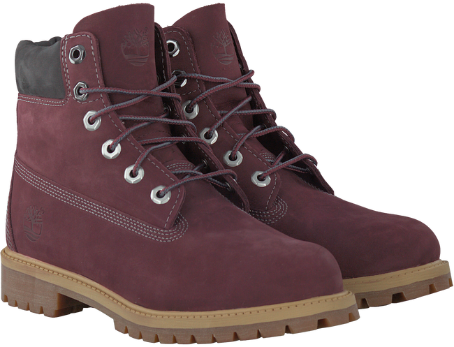 Rode TIMBERLAND Enkelboots 6IN PRM WP BOOT KIDS  - large