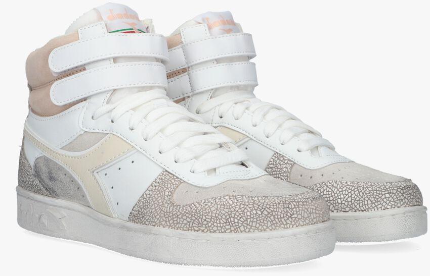 Witte DIADORA Hoge sneaker MAGIC BASKET MID ICONA WOMAN  - larger