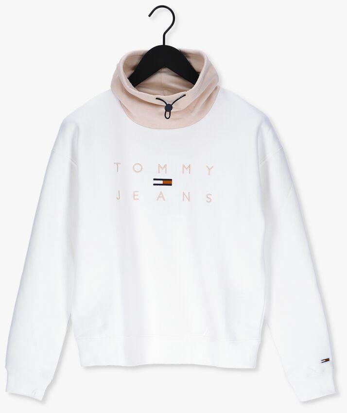 Witte TOMMY JEANS Sweater TJW BXY TONAL LOGO 3 FUNNEL NE - larger