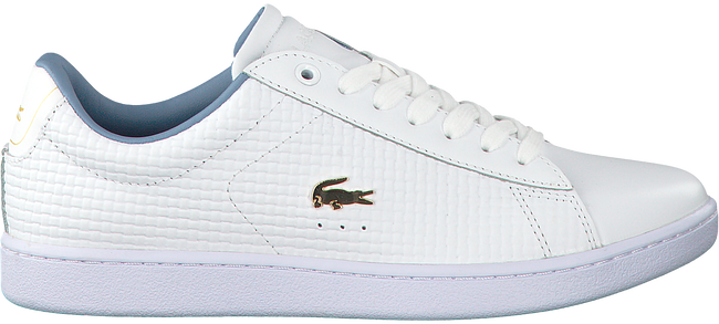 Witte LACOSTE Sneakers CARNABY EVO DAMES  - large