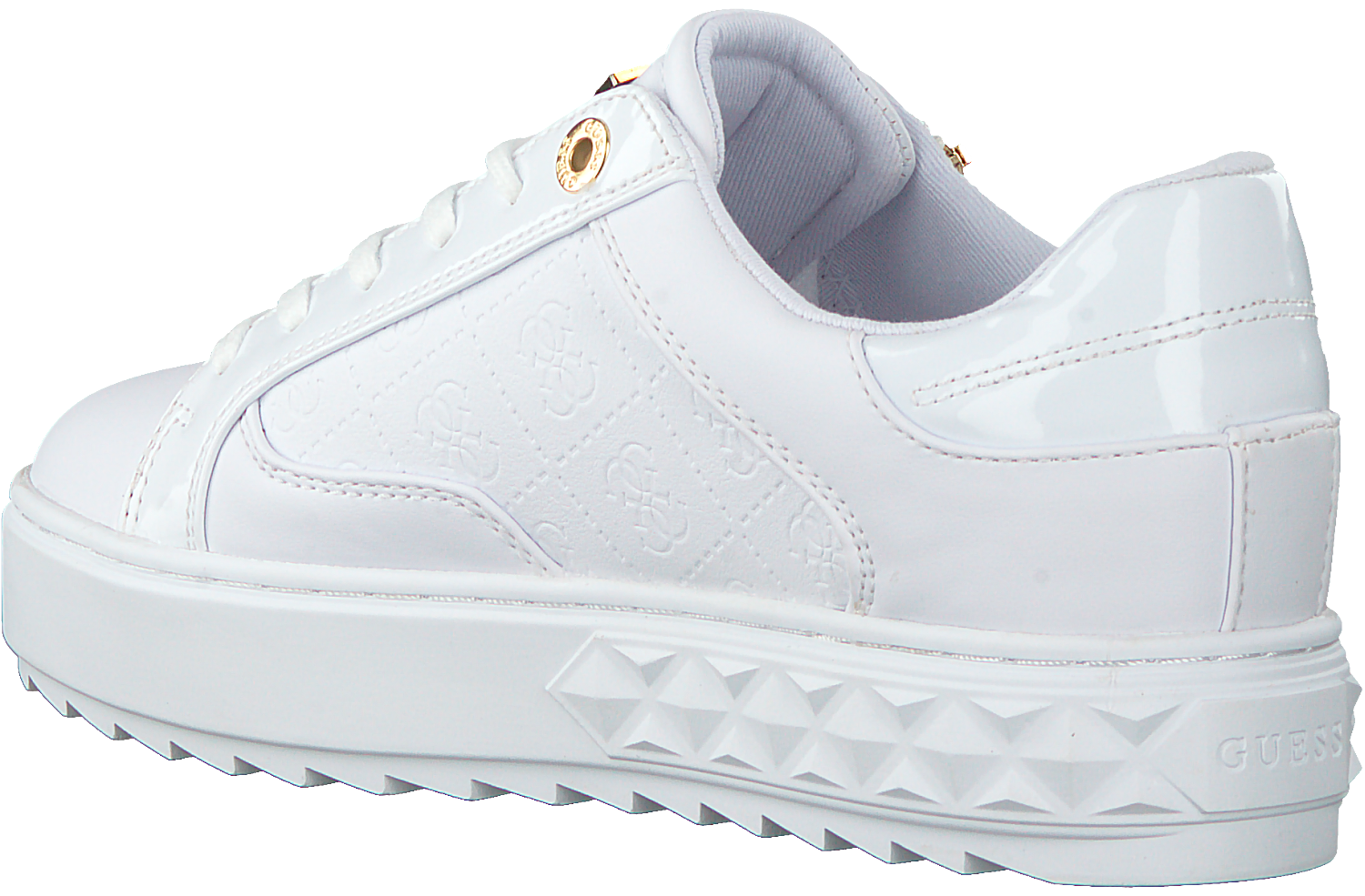 Witte GUESS Lage sneakers FIGGI Omoda.nl