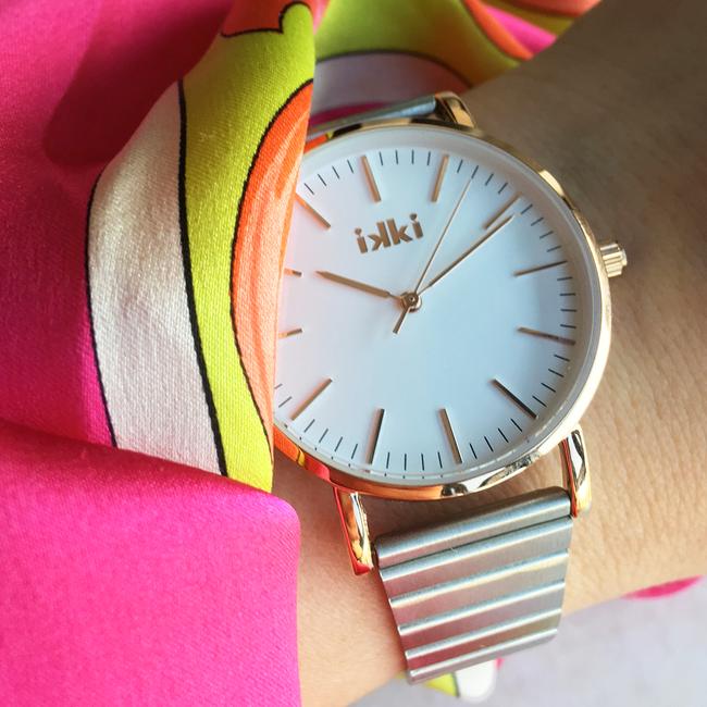 Zilveren IKKI Horloge JANET - large
