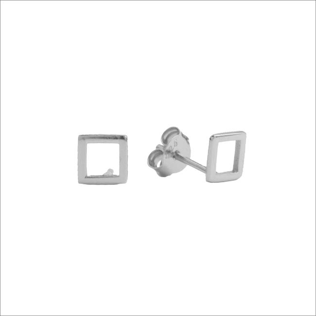Zilveren ATLITW STUDIO Oorbellen PARADE EARRINGS OPEN SQUARE - large