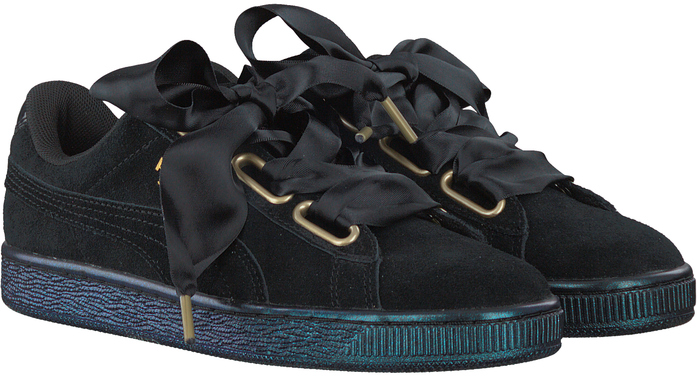 Zwarte PUMA Sneakers SUEDE HEART SATIN   Omoda