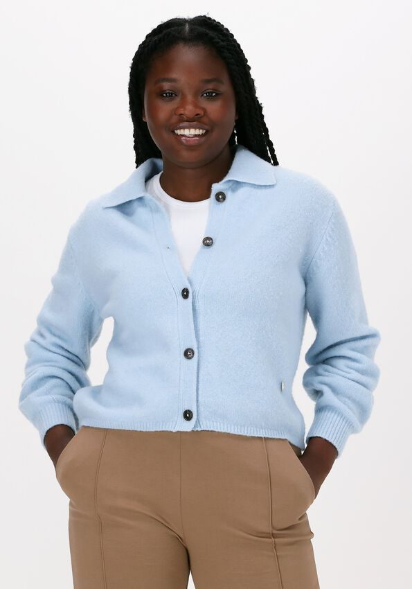 Blauwe MOS MOSH Vest MIZANA KNIT CARDIGAN - larger
