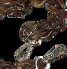 Bruine HVISK Schouderband CHAIN HANDLE  - small