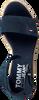 Blauwe TOMMY HILFIGER Sandalen NATURAL WEDGE  - small