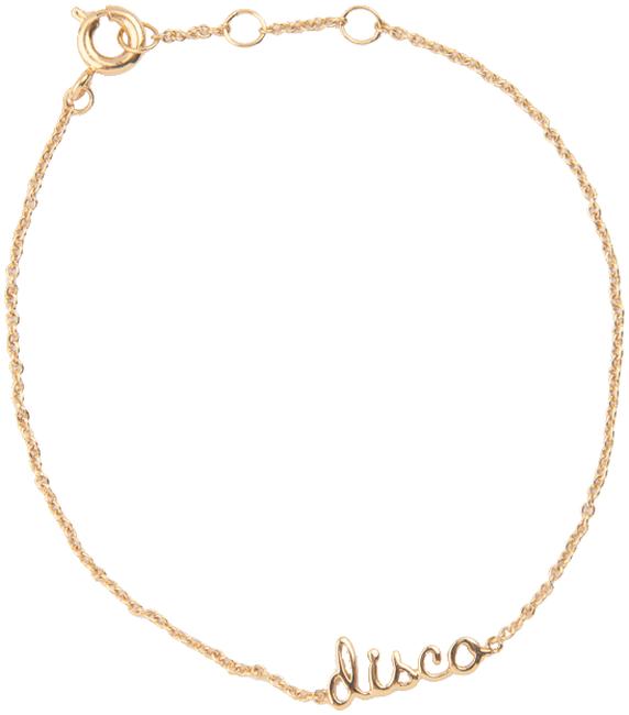Gouden ATLITW STUDIO Armband URBAN BRACELET DISCO - large
