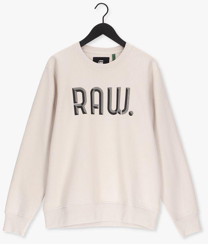 Gebroken wit G-STAR RAW Sweater A971 - ASHOR SWEAT R- 3D RAW. - larger