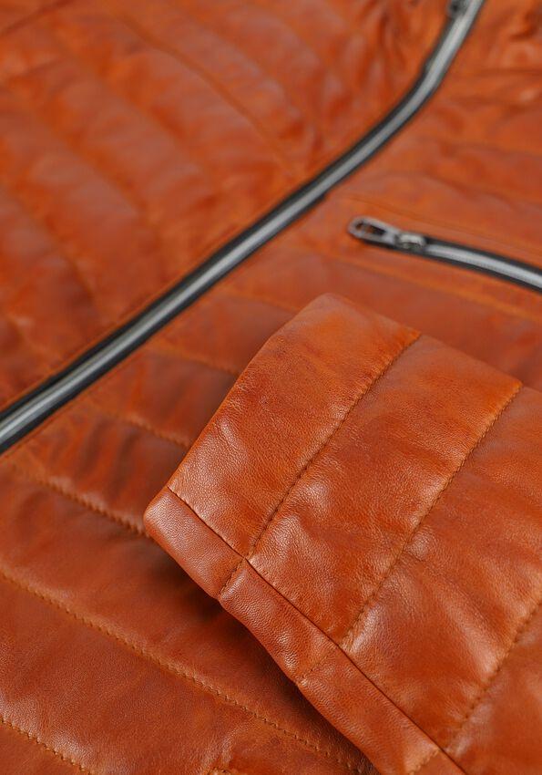 Oranje MILESTONE Leren jas DAMIANO - larger