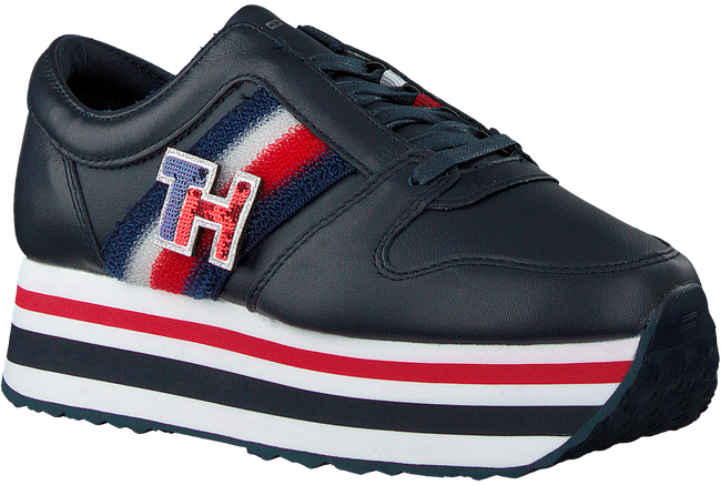 Blauwe TOMMY HILFIGER Lage sneakers TOMMY CUSTOMIZE FLATFORM  - large