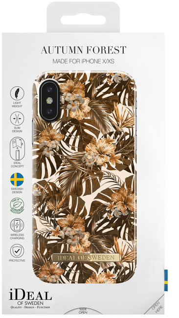 Bruine IDEAL OF SWEDEN Telefoonhoesje FASHION CASE IPHONE X/XS - large