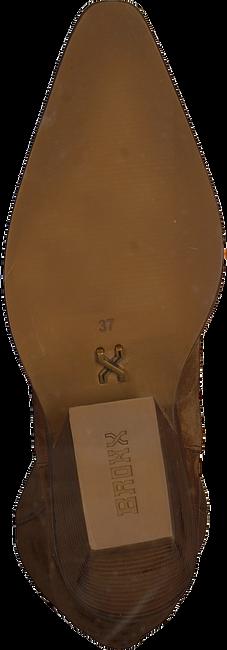 Cognac BRONX Lange laarzen LOW-KOLE 14186  - large